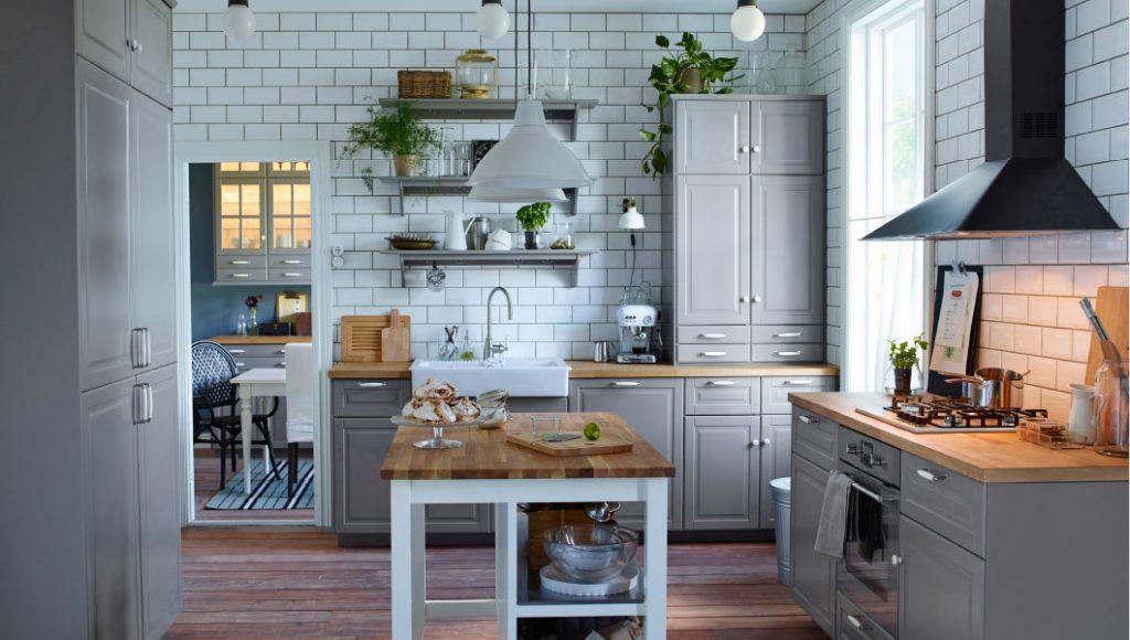 grått kök från IKEA