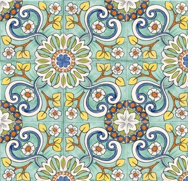 Mönstrat golv i fina färger